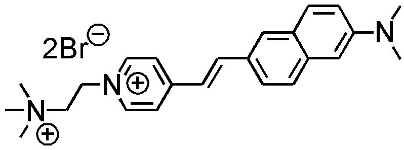 Chemical structure of voltage-sensitive dye Di-4-AN(F)EP(F)PTEA from Potentiometric Probes